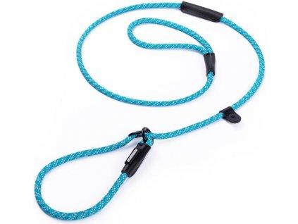 Vodítko nylon s obojkem kulaté - modré Freezack 1,2 x 180 cm