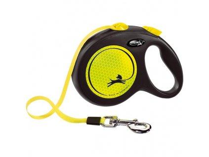 Flexi New Neon L pásek 5 m žluté 50 kg