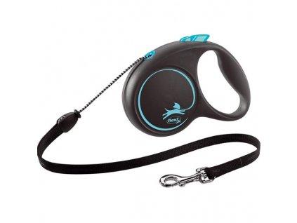 Flexi Black Design M lanko 5 m modré 20 kg