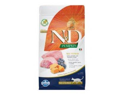 N&D Pumpkin CAT Neutered Lamb & Blueberry 1,5kg