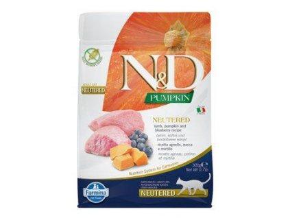 N&D Pumpkin CAT Neutered Lamb & Blueberry 300g