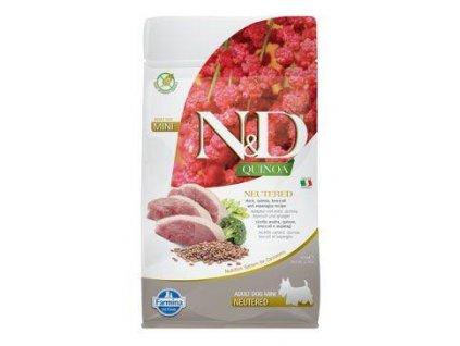 N&D Quinoa DOG Neutered Duck&Broccoli&Asp. Mini 800g
