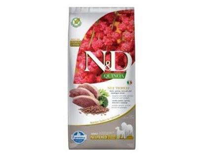 N&D Quinoa DOG Neutered Duck&Broccoli&Asp. 12kg