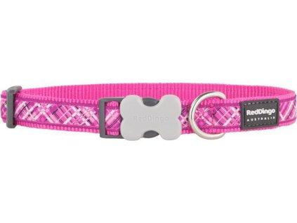 Obojek RD FLANNO hot pink 1,2/20-32cm
