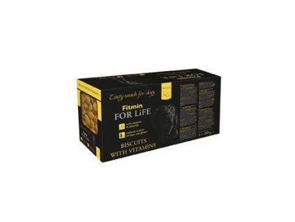 Piškoty FITMIN FOR LIFE pro psy MULTIPACK 6x200g