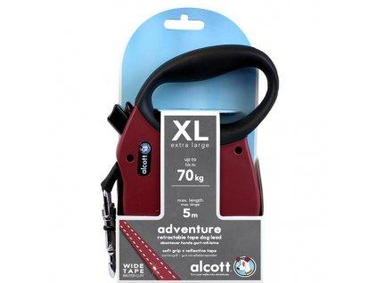 Alcott navíjecí v.Adventure(do 70kg)červené XL 5m