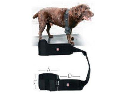 Bandáž Rehab Pro na loket pro psa KRUUSE L levá