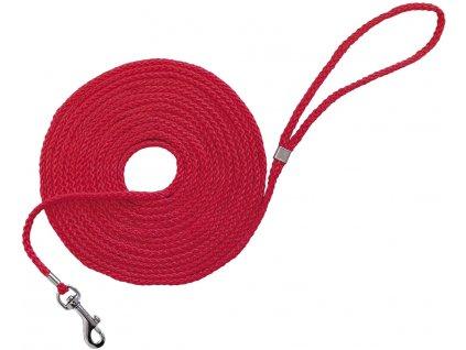 Nobby lanové stopovací vodítko lano červené 10m