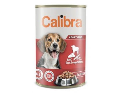 Calibra Dog  konz.Beef,liver&veget. in jelly 1240g NEW