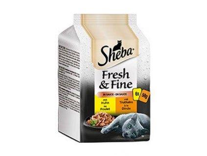 Sheba kapsa Fresh&Fine s drůbežím masem 6x50g