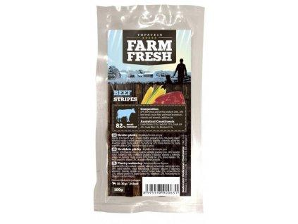topstein farm fresh beef stripes 100 g