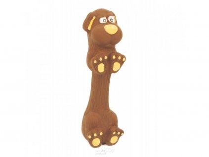 Latexová hračka s pískadlem-Jezevčík malý 13cm