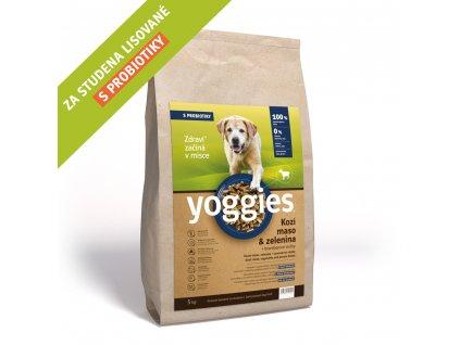 Yoggies 4 kg Kozí maso granule lisované za studena s probiotiky