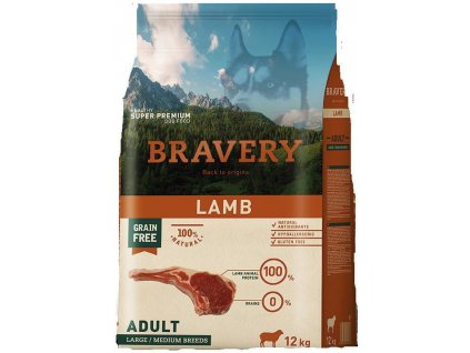 Bravery Adult large & medium Lamb 12kg