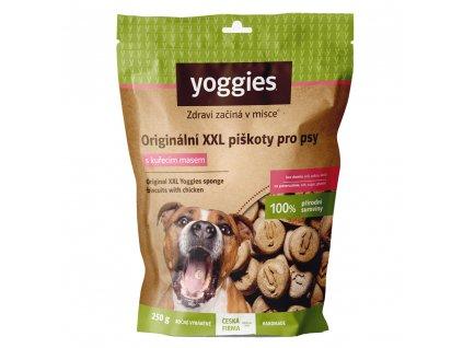 yoggies nove xxl piskoty s kurecim masem 250g