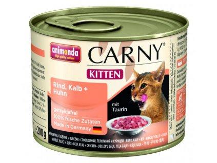 Animonda Carny Cat Kitten Hovězí,telecí & kuřecí 200g