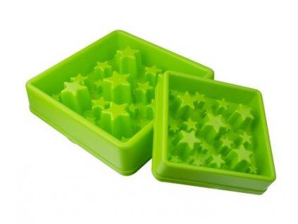 Zpomalovací miska Eat Slow STAR zelená
