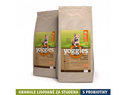 30 kg yoggies active kachna a zverina granule lisovane za studena s probiotiky