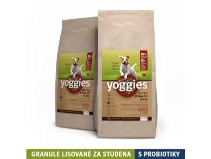 30kg kureci a hovezi maso granule lisovane za studena s probiotiky yoggies
