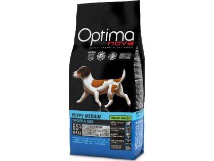 OPTIMAnova Dog Puppy Medium 12kg  + BRIT Let's Bite! Dog FILLET O'DUCK