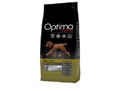OPTIMAnova Dog GF Mini DIGEST Rabbit 8kg  + FUNKČNÍ PAMLSKY OPTIMANOVA SNACK 150g