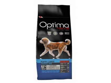 OPTIMAnova Dog Puppy Large 12kg  + BRIT Let's Bite! Dog FILLET O'DUCK