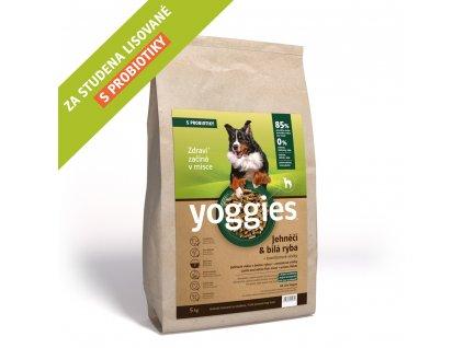 Yoggies 4 kg Jehněčí granule lisované za studena s probiotiky
