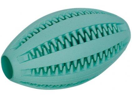 Nobby Dental hračka pro psy gumový míč ragby s mátou 11x6cm