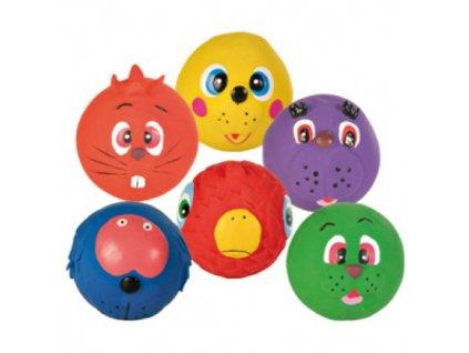 Nobby Face Ball hračka míček latex 7cm 1ks
