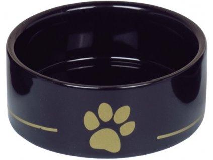 Nobby keramická miska GOLDEN PAW černá 12,0 x 4,5 cm / 0,25 l