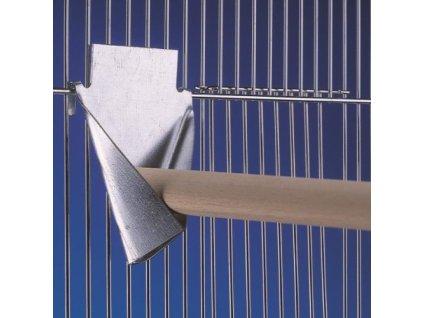 Nobby kovový držák na bidlo do klece 8 x 10,5 cm