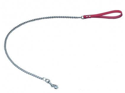 Nobby Classic řetízkové vodítko 110cm / 12mm červená