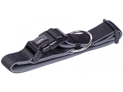 Nobby CLASSIC PRENO extra široký obojek neoprén černá L-XL 40-55cm