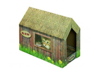 Nobby kartonový domeček pro kočky 49x26x36cm