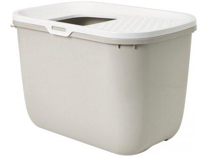 Savic Hop In toaleta pro kočky s horním vstupem béžová 59x39x38cm
