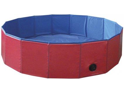 Nobby bazén pro psa skládací červený M 120x30cm  + Tender Loving Care pamlsek - jehně 100g