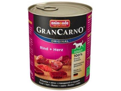 Animonda Dog konzerva GranCarno Original Adult Hovězí maso & srdce 800g