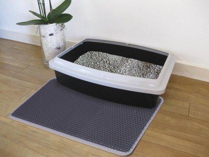 Nobby siťovaná rohož před kočičí toaletu 39x60cm šedá