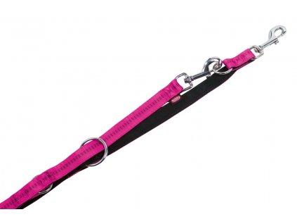 Nobby SOFT GRIP vodítko přepínací 200cm / 15mm růžová