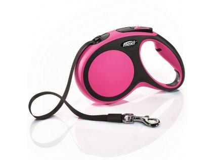 Flexi New Comfort S vodítko pásek 5m/15kg růžová
