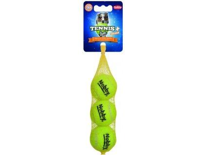 Nobby hračka tenisový míček S pískátko 5cm 3ks
