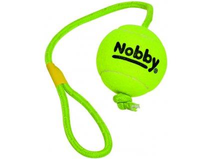 Nobby hračka tenisový míček XL 10cm s lanem 70cm