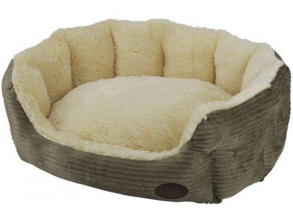 Nobby SASHE pelíšek oválný hnědý 65x57x22cm