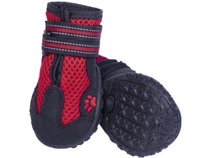 Nobby RUNNERS MESH ochranné boty pro psy S 2ks červená