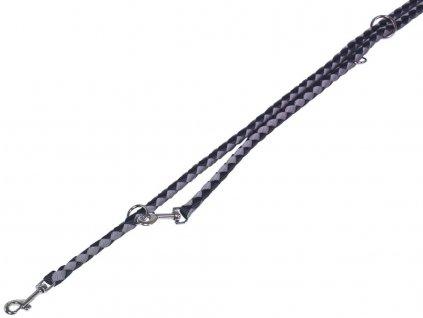 Nobby CORDA kulaté přepínací vodítko L-XL 200m/18mm černá