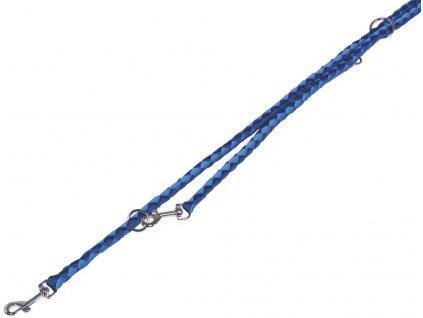 Nobby CORDA kulaté přepínací vodítko S-M 200m/12mm modrá