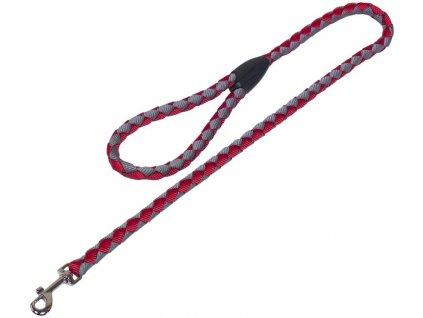 Nobby CORDA kulaté vodítko L-XL 100m/18mm červená