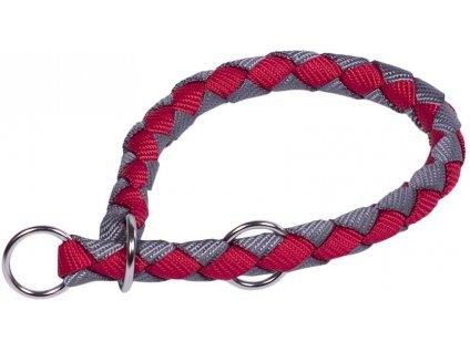 Nobby CORDA polostahovací kulatý obojek S červená