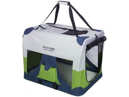 Nobby Traveller XXXL Fashion nylonový box kennelka pro psy 102x69x69cm