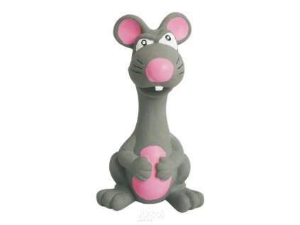 Latexová hračka se skutečným zvukem-Zvíře šedé 15cm